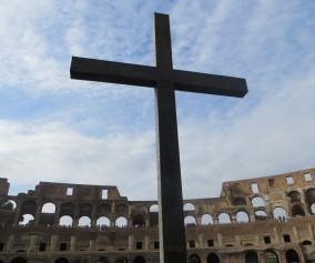 Rome Colosseum cross