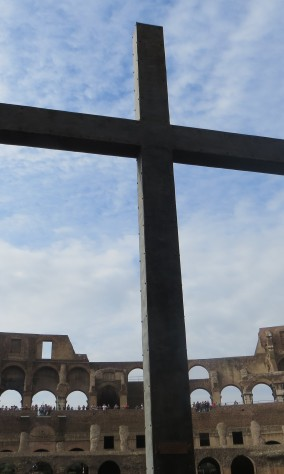 Rome Colosseum cross